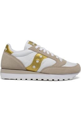 SNEAKERS SAUCONY JAZZ WHITE-GOLD